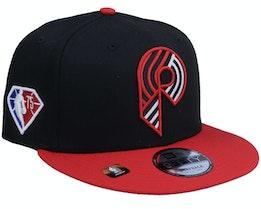 Portland Trail Blazers NBA21 Draft Em 9FIFTY Black Snapback - New Era