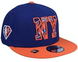 New York Knicks NBA21 Draft Em 9FIFTY Royal Snapback - New Era