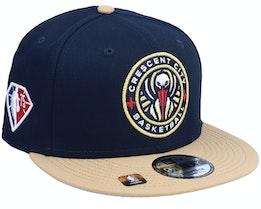 New Orleans Pelicans NBA21 Draft Em 9FIFTY Navy Snapback - New Era