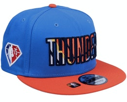 Oklahoma City Thunder NBA21 Draft Em 9FIFTY Blue Snapback - New Era