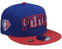 Philadelphia 76ers NBA21 Draft Em 9FIFTY Royal Snapback - New Era