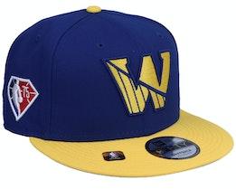 Golden State Warriors NBA21 Draft Em 9FIFTY Royal Snapback - New Era