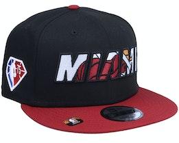 Miami Heat NBA21 Draft Em 9FIFTY Black Snapback - New Era