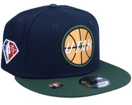 Utah Jazz NBA21 Draft Em 9FIFTY Navy Snapback - New Era