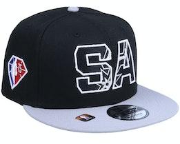 San Antonio Spurs NBA21 Draft Em 9FIFTY Black Snapback - New Era