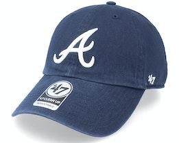 Atlanta Braves Clean Up Navy Dad Cap - 47 Brand