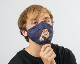 1-Pack Mane Cat Navy Face Mask - Goorin Bros.