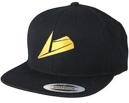 Gold Logo Black Snapback - Sneakers