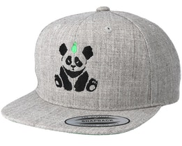 Kids Panda Grey Kids Snapback - Kiddo Cap