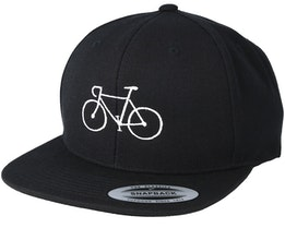 Classic Bike Black/White Snapback - Bike Souls