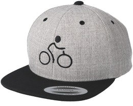 Bike Man Heather Grey/Black Snapback - Bike Souls