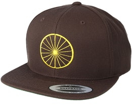 Wheel Brown/Yellow Snapback - Bike Souls