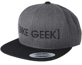 Bike Geek Charcoal/Black Snapback - Bike Souls
