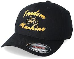 Freedom Machine Black/Gold Flexfit - Bike Souls