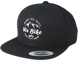 Over The Hills And Far Away Black Snapback - Bike Souls
