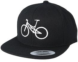 MTB Black/White Snapback - Bike Souls