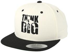 Think Big White/Black Snapback - Berzerk
