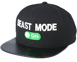 Beast Mode On Carbon Black Snapback - Berzerk
