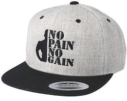 No Pain No Gain Grey/Black Snapback - Berzerk