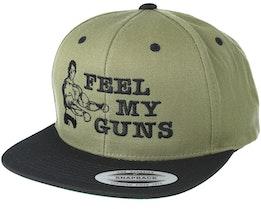 Feel My Guns Olive Snapback - Berzerk