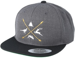 Animals Logo Charcoal/Black Snapback - Hunter