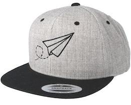 Plane Grey/Black Snapback - Origami