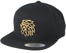 Head Logo Black/Gold Snapback - Lions
