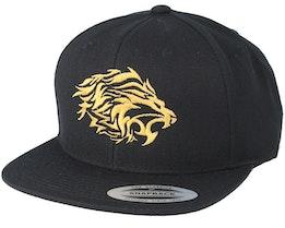 Tribal Logo Black/Gold Snapback - Lions
