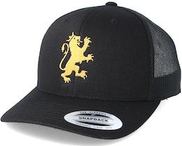 Standing Logo Black/Gold Trucker - Lions