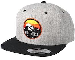 Sunset Logo Grey/Black Snapback - Wild Spirit