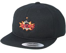 Kids Boom Logo Black Kids Snapback - BOOM