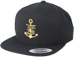 Anchor Black/Gold Snapback - Jack Anchor
