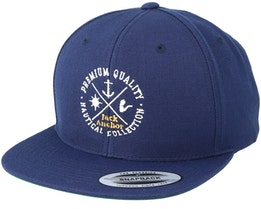 Nautical Collection Navy/White Snapback - Jack Anchor