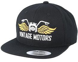 Vintage Motors Black Snapback - Born To Ride