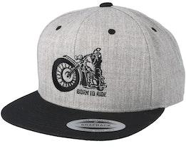 Comfy Ride Grey/Black Snapback - Born To Ride