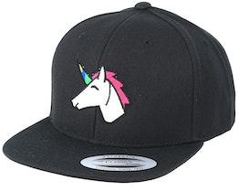 Kids Unicorn Black Snapback - Unicorns