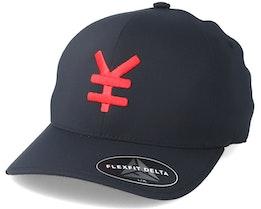 Yen Delta Black/Red Flexfit - Yapan