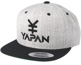 Yapan Logo Heather Grey/Black Snapback - Yapan