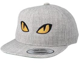 Kids Snake Eyes Grey Snapback - Kiddo Cap