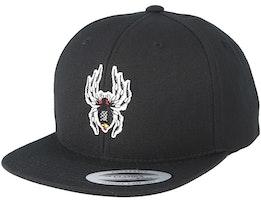 Kids Spider Black Snapback - Kiddo Cap