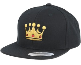 Kids Royal Black Snapback - Kiddo Cap