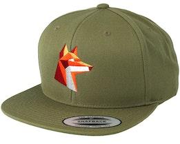 Paper Fox Green Snapback - Origami