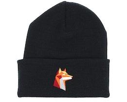 Paper Fox Black Beanie - Origami