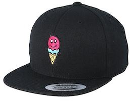Kids Ice Cold Smile Black Snapback - Kiddo Cap