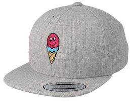 Kids Ice Cold Smile Grey Snapback - Kiddo Cap