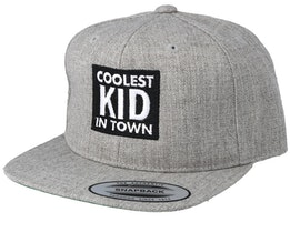Kids Coolest Kid In Town Grey Snapback - Kiddo Cap