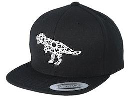 Kids Mandala T-Rex Black Snapback - Kiddo Cap