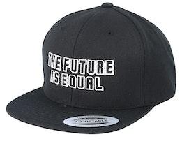 Kids The Future Is Equal Black Snapback - Kiddo Cap