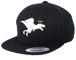 Kids Angel Dino Black Snapback - Kiddo Cap