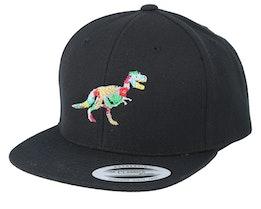 Kids Hawaii T-rex Black Snapback - Kiddo Cap